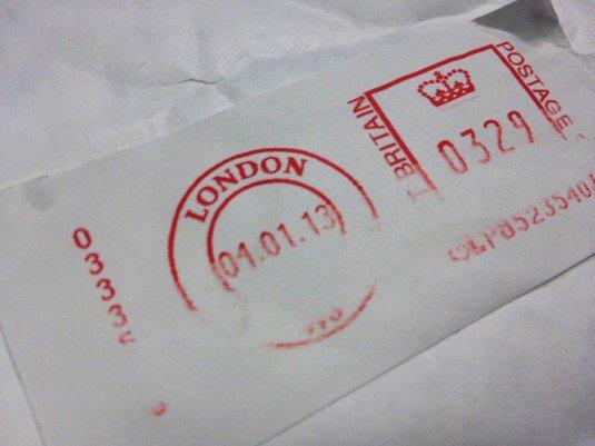 Franked Mail Prepaid Envelope