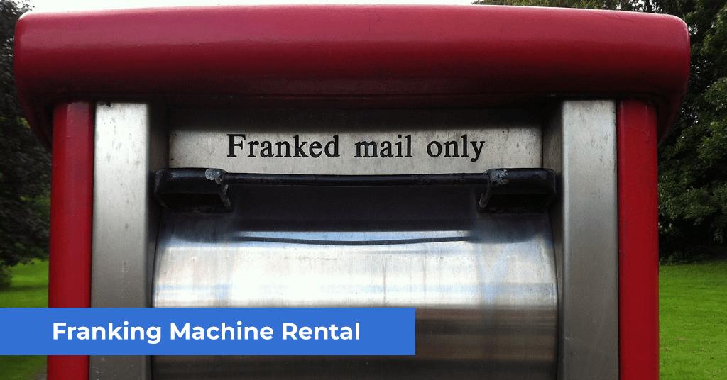 franking machine rental